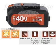BATTERIA 40 V LITIO 2600 mAh PER UTENSILI CORDLESS DUAL POWER TRAPANO
