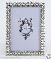 """Olivia Riegel Crystal & Pearl 4x6"""" Picture Photo Frame with Swarovski"""