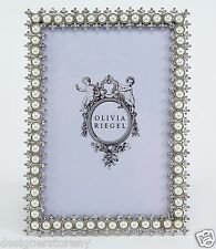 "Olivia Riegel Crystal & Pearl 5"" x 7"" Picture Photo Frame with Swarovski"