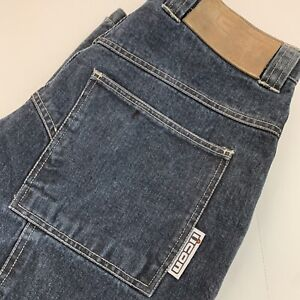 Icon Recon Men's Motorcycle Pant Size 32 Denim Jeans Dark Blue EUC