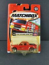 Matchbox 2001 #23 Sun Chasers Ford Explorer Sport Trac Red Truck Diecast Car NEW