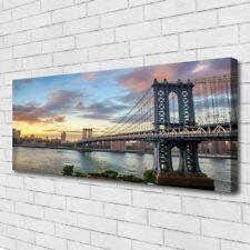 Canvas print Wall art on 125x50 Image Picture Bridge City Architecture
