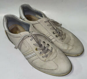 Ecco Mens Beige Lace Up Portugal Made Golf Shoes Size 46 EUR 12 USA