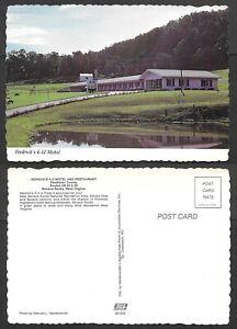 Old West Virginia Postcard - Seneca Rocks - Hedrick's 4-U Motel, Restaurant