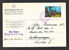 SWITZERLAND SULSER #21 GROUPE MOT. DRAGONS 11 - ADDRESSED MILITARY POSTCARD