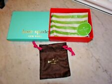 "Kate Spade New York Gift Box Tissue Paper Felt Bag 5.75"" 4.5"" 1.875"" Blue Orange"