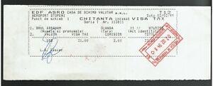 Bulgaria Revenue cancel stamp Aeroport Otopeni chitanta incasat visa tax 1994