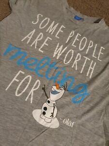 Size 12 Olaf Disney Frozen Tshirt christmas