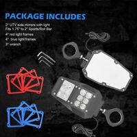 "Rear View Side Mirrors w/ LED Light Fit UTV Polaris RZR Ranger 1.75-2"" Roll Cage"