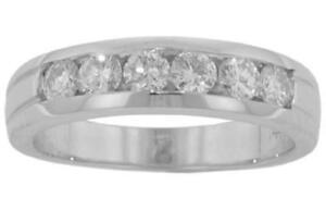 0.75 ct Men's Round Cut Diamond Wedding Band Ring In Platinum
