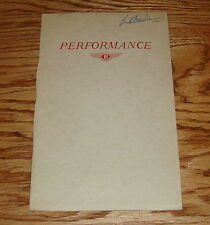 Original 1952 Bentley Saloon Mark VI Performance Sales Brochure 52