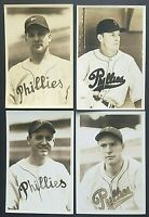 LOT OF 4 Philadelphia Phillies George Burke Photo Dan Litwhiler Andy Seminick !!