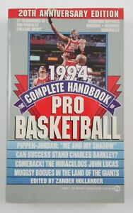 1994 Complete Handbook of Pro NBA Basketball Jordan Cover Zander Hollander Book