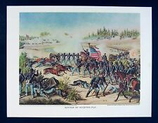 Kurz & Allison Civil War Print - Battle of Olustee or Ocean Pond - Florida