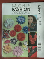 McCall's Pattern 6047 Various Fabric Flower Designs accessories cloth