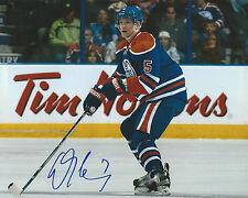 **GFA Edmonton Oilers *LADISLAV SMID* Signed 8x10 Photo L2 COA**