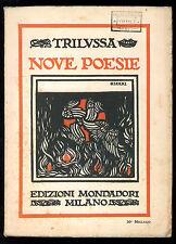 TRILUSSA NOVE POESIE MONDADORI 1926 COPERTINA CISARI