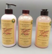 Tuscan Hills Cherry Blossom Lotion, Body Wash Bath And Salt Body Care Collection