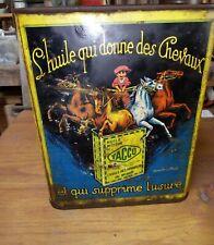 Rare!!!  Ancien Bidon YACCO , L'huile Qui Donne Des Chevaux