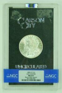 1885-CC 1885 CC Carson City Morgan Silver Dollar BU NGC MS63+ Uncirculated GSA