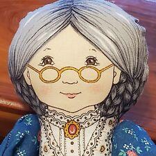 Country Grandma Plush Rag Doll Dress Stuffed Toy granny