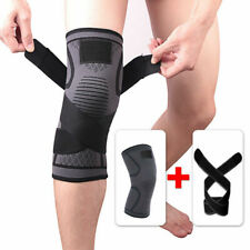 Non Slip Compression Knee Sleeve Brace Support Sport Arthritis Joint Pain Relief