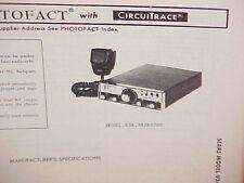 1979 SEARS CB RADIO SERVICE SHOP MANUAL MODEL 934.38260700 (ROADTALKER)