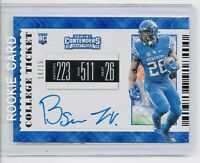 2019 Benny Snell Jr. RC AUTO Panini Contenders  BLUE Cracked Ice BLUE INK /15 📈