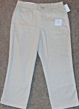 NWT CROFT & BARROW WOMEN'S CAPRI CLASSIC FIT OATMEAL BELOW THE KNEE SZ 4