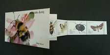 Portugal Butterflies And Insects 1985 Bee Bug Moth Flower Flora (booklet) MNH