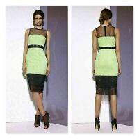 SHONA JOY | Womens Meshed Splice Midi Dress NEW  $400+ [ Size AU 6 or US 2 ]