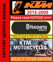 KTM Repair Service Workshop (PDF) Manual 2009,2010,2011,2012,2013,2014,2015