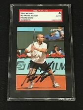 ANDRE AGASSI 2003 NETPRO PHOTO SIGNED AUTOGRAPHED CARD #5 TENNIS SGC AUTHENTIC