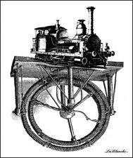 LaBlanche Train Silicone Stamp 1326  ~ Steam Engine