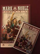 MARK NOBLES TESTIMONIAL DVD & MATCH PROGRAMME from BOLEYN vs WEST HAM LEGENDS