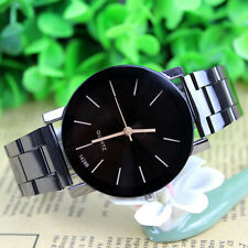 New Luxury Mens Womens Watch Compass Stainless Steel Quartz Analog Wrist Watch