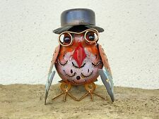 Hand Made And Painted Metal Wise Owl Hat And Glasses Ornament.....