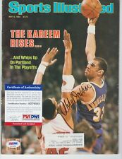 Kareem Abdul-Jabbar Signed Autograph 1983 SI Sports Illustrated Magazine PSA DNA