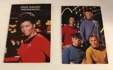 Hallmark Star Trek Vintage Cards 1992 Paramount Kirk Spock Uhura McCoy Lot of 2