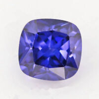 Unheated Blue Tanzanite 6.62cts 10x10mm Square Cut Shape AAAAA VVS Loose Gems