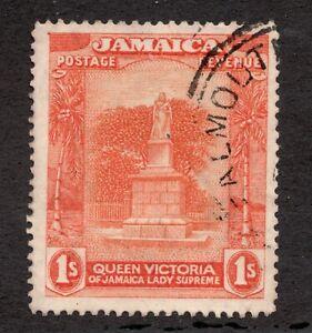 #83 - Jamaica - 1 shilling - Queen Victoria Monument- Used - F/VF - superfleas