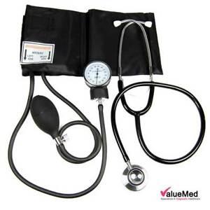 BP Monitor Manual Pro NHS Aneroid Sphygmomanometer & Dual Stethoscope + Case