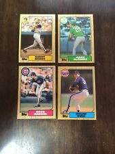 1987 TOPPS BASEBALL COMPLETE SET + 1987 TOPPS COMPLETE TRADED SET MINT IN BINDER