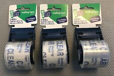Ultra Clear Mailing Packaging Tape with dispenser, 1.88 x 800 In lot of 3 rolls