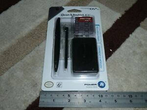 NINTENDO DSi XL OFFICIAL ACCESSORY PACK GAME CASE 2 STYLUS SCREEN PROTECTOR NEW!
