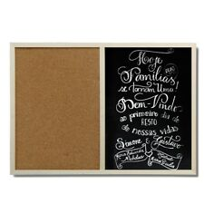 Natural Bulletin Cork & Chalk Black Board for Office Supplies Home Decor 30*40cm