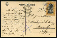 BELGIUM - CONGO to BELGIUM postcard circulated BOMA cancel 1908