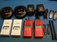 2 Motorola HT1250 VHF 136-174MHz  128 Channel Mint TESTED