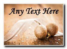Gold Glitter Ball Christmas Personalised Jumbo Magnet