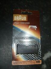 ORIGINAL BRAUN 596SHAVER FOIL REPLACEMENT HEAD, 1000 / 2000, NEW